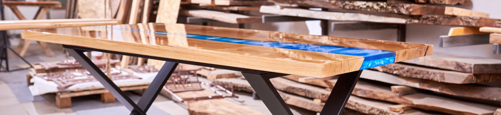Epoxy tafel voorbeeld river table