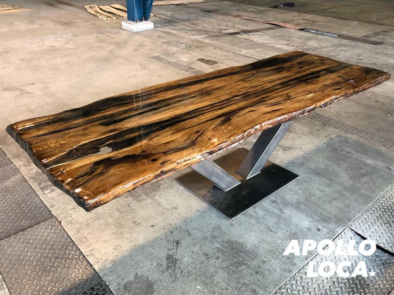 Nieuw Maak zelf een epoxy boomstamtafel PK-18